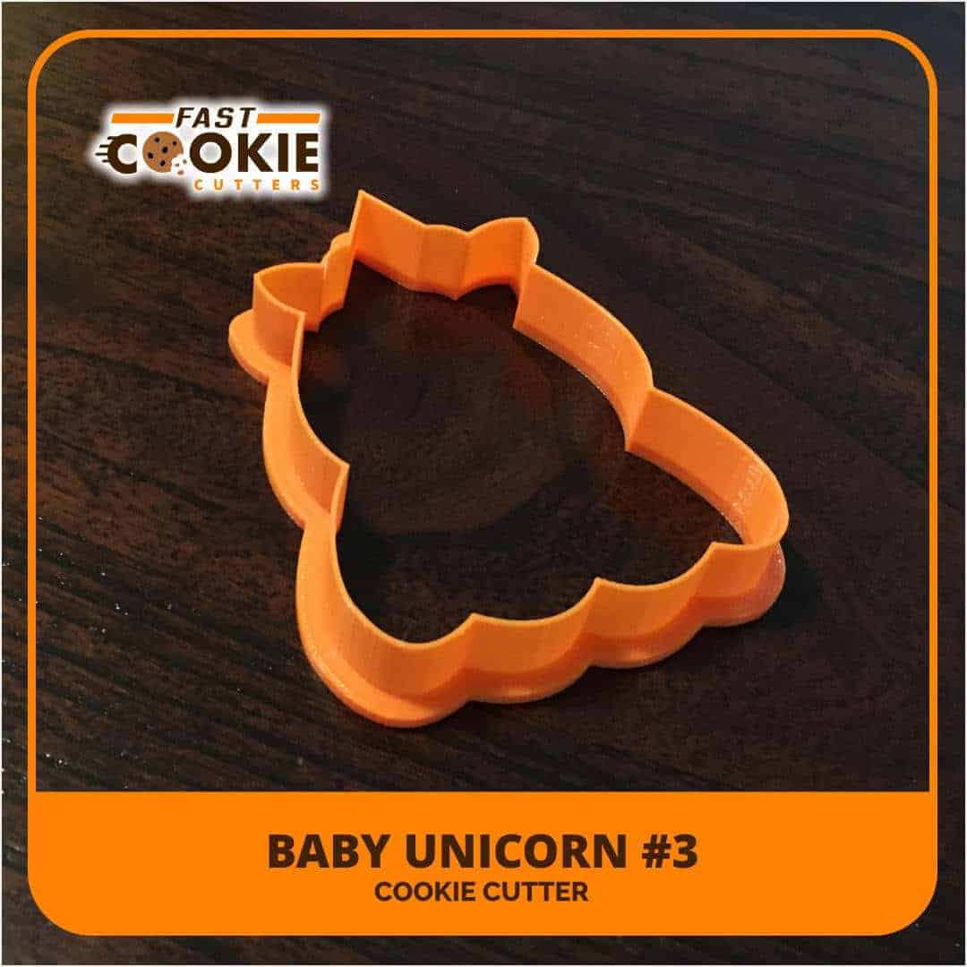 Unicorn 3 Cookie Cutter