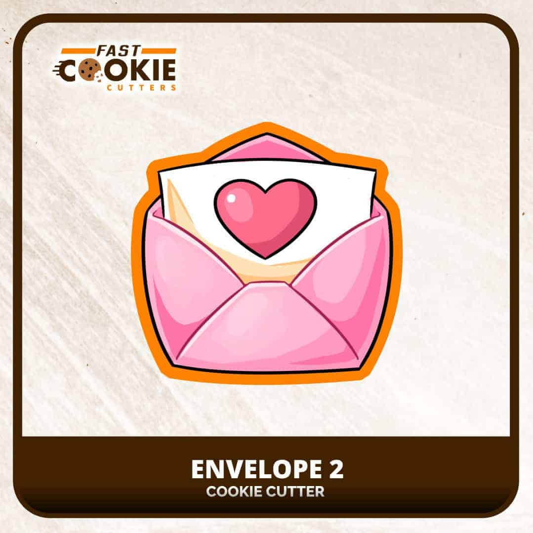 Envelope 2 Cookie Cutter | Fast Cookie Cutters
