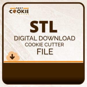 STL Digital Download Cookie Cutter File